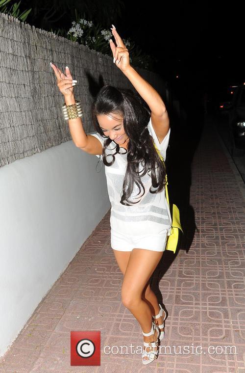 Tulisa Contostavlos arrives in Ibiza