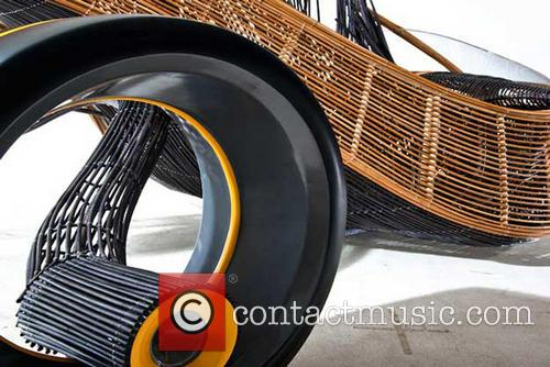 A concept car made of bamboo that explores...