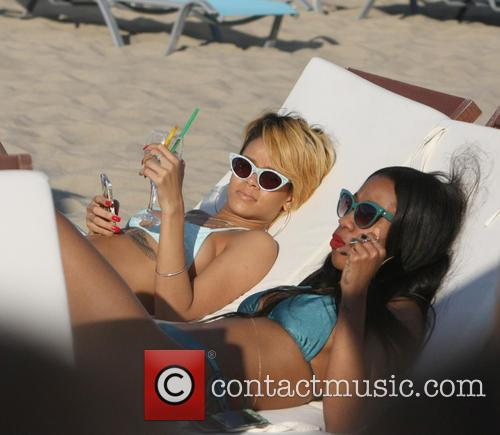 Rihanna spends some time on the beach