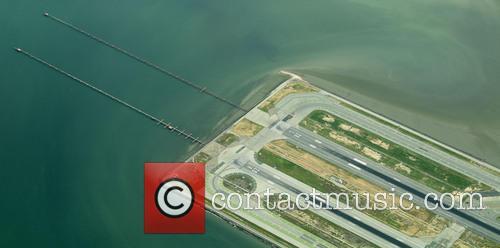 Ariel view of San Francisco International Airport