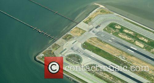 Ariel view of San Francisco International Airport