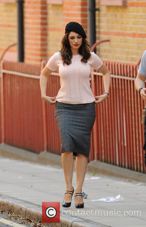 Kelly Brook on the set of her new film 'Taking Stock'