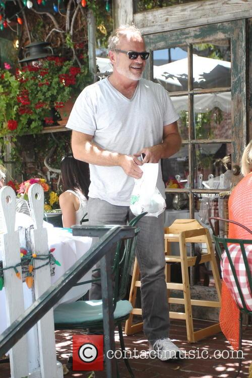 Kelsey Grammer and wife Kayte Walsh have lunch at the Ivy