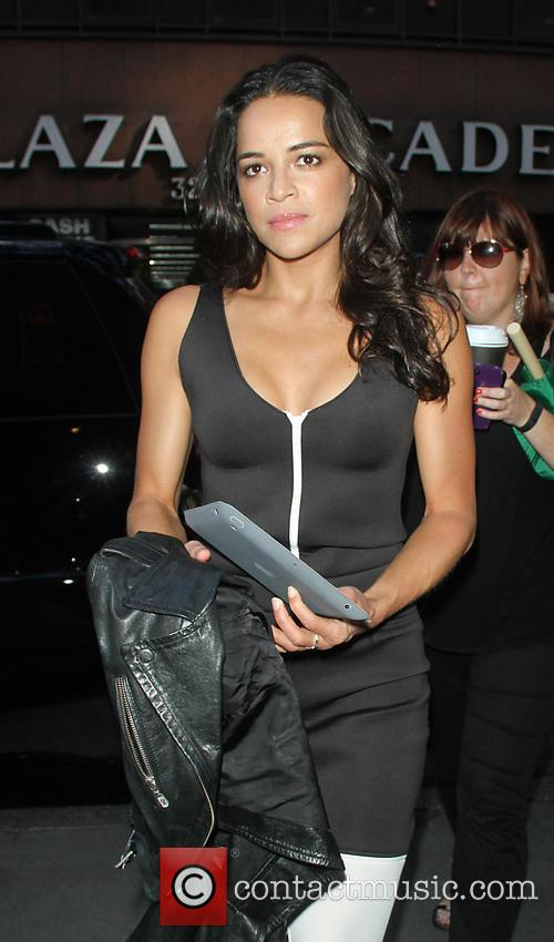 Michelle Rodriguez at the NBC's 'Today' show to promote her new animated movie 'Turbo'