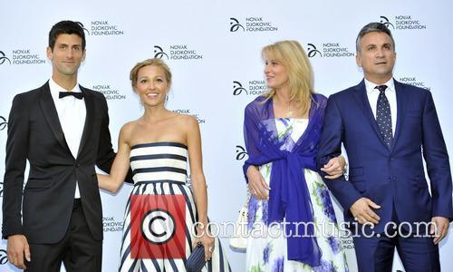 Novak Djokovic, Jelena Ristic, Dijana Djokovic and Srdjan Djokovic 11