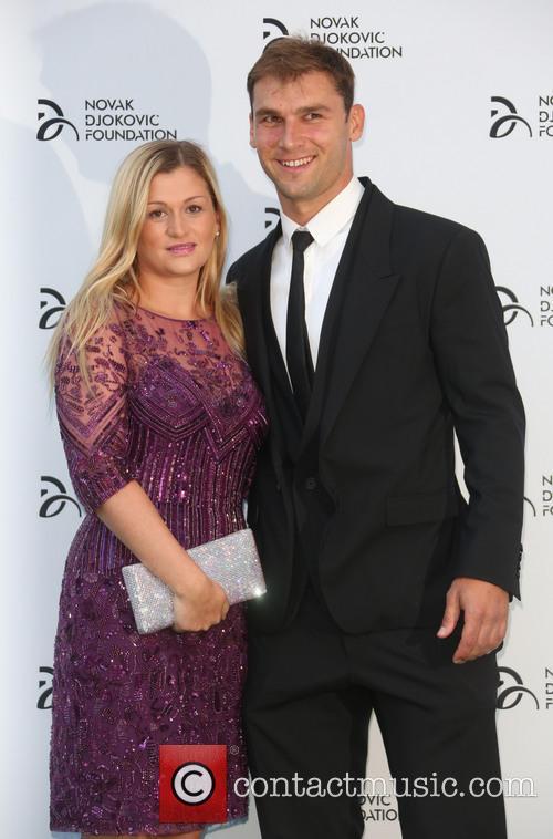 Novak Djokovic, Branislav Ivanovic and Natasha Ivanovic 2