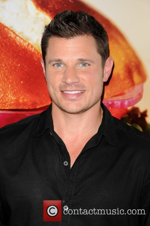 Nick Lachey at the launch of Wendy's Pretzel Bacon Cheeseburger