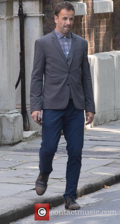 Johny Lee Miller spotted filming 'Elementary' in London