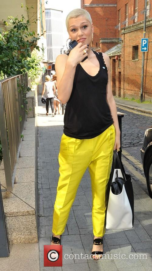 Jessie J arriving at the Today FM studios