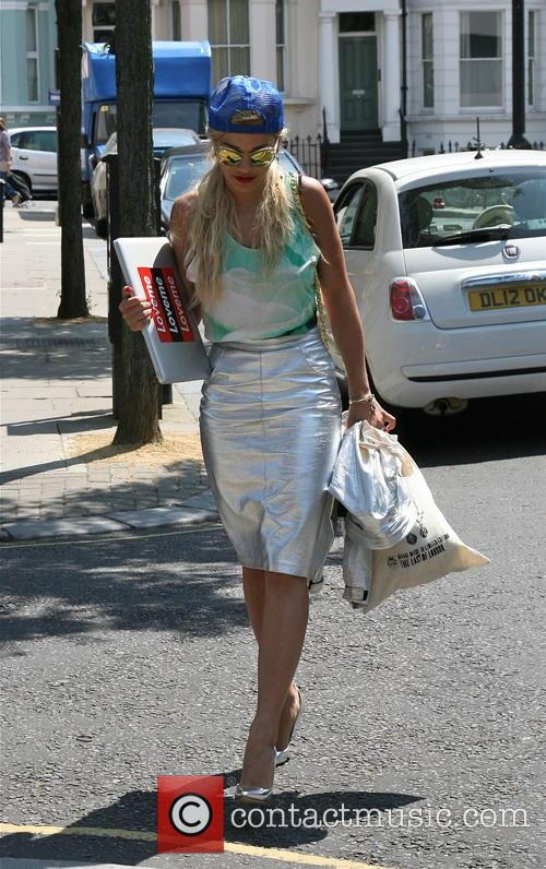 Rita Ora seen out and about