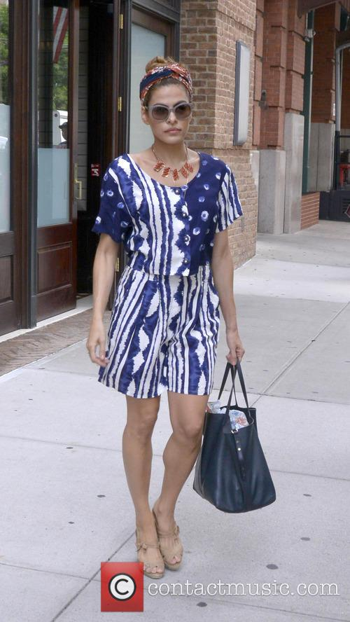 Eva Mendes seen leaving her hotel