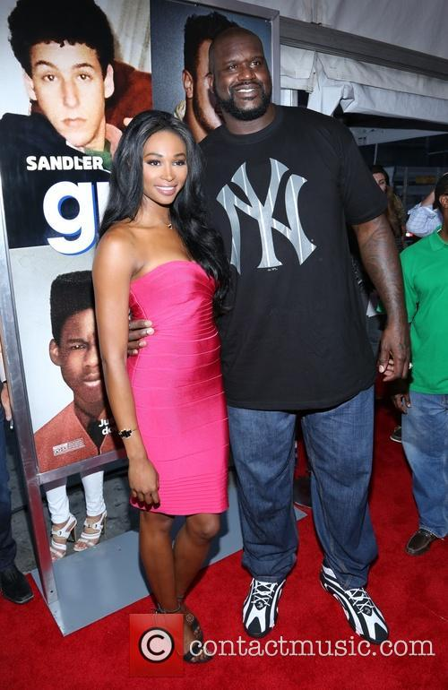 shaquille o'neal nana meriwether new york premiere of 3755728