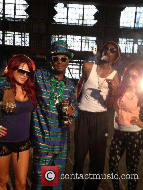 Carla Howe, Bishop Don Magic Juan, Snoop Lion and Melissa Howe 3