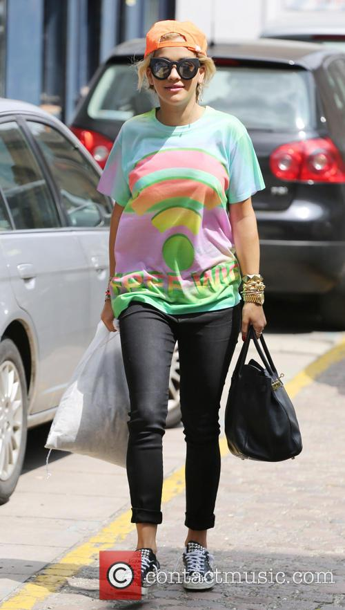 Rita Ora seen in West London