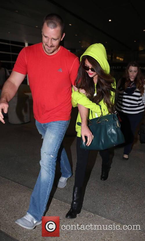 Selena Gomez, Brian Teefey, LAX airport