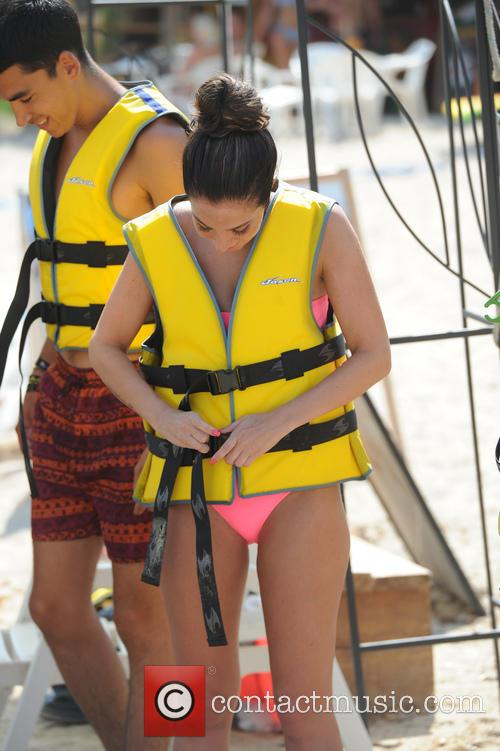 Tulisa Contostavlos Day Out At The Beach
