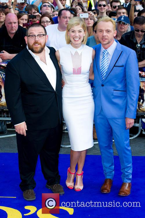 Nick Frost, Rosamund Pike, Simon Pegg, Empire Cinema Leicester Square, Odeon Leicester Square