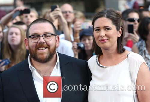 Nick Frost, Christina Frost, Odeon Leicester Square
