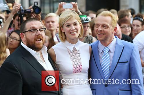 Nick Frost, Simon Pegg and Rosamund Pike