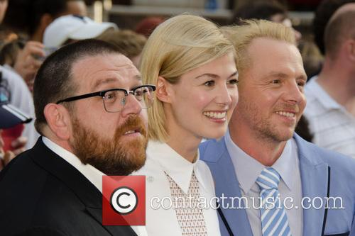 Nick Frost, Rosamund Pike, Simon Pegg, Empire Leicester Square, Odeon Leicester Square