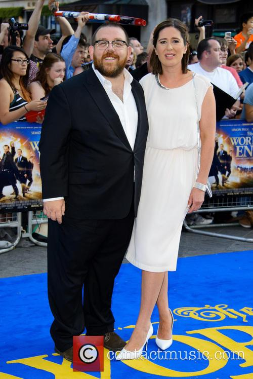 Worlds End Premiere In Pictures Simon Pegg and NickNick Frost Wife