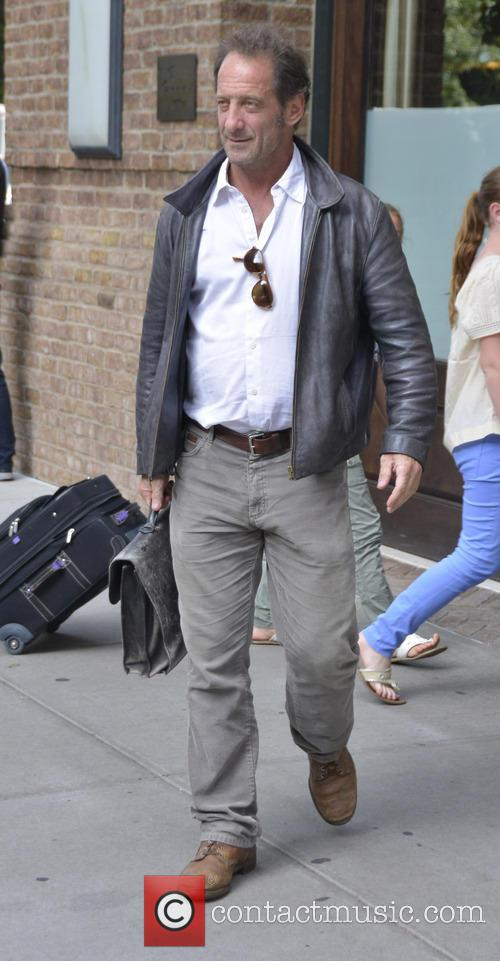 Vincent Lindon Leaves Hotel