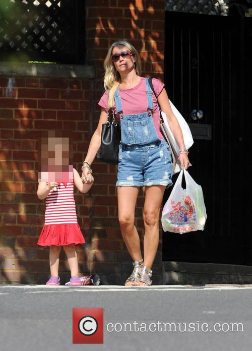 Denise Van Outen out with her daughter