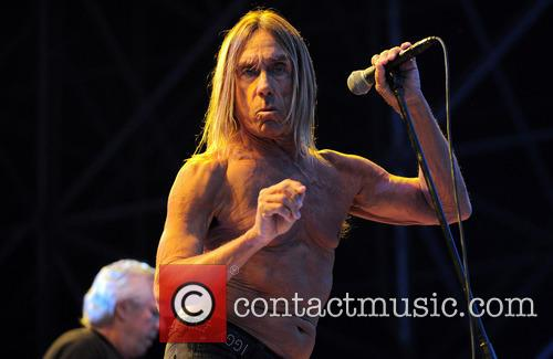 Iggy Pop and the Stooges perform live at...