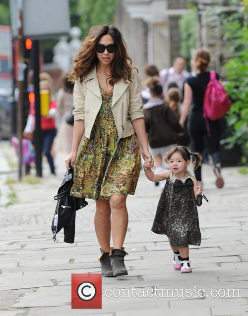 Myleene Klass seen doing the school run