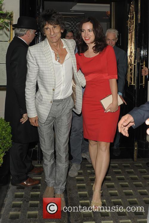 Ronnie Wood and Sally Humphreys 2