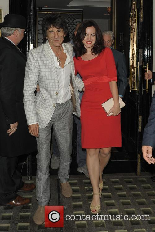 Ronnie Wood and Sally Humphreys 3
