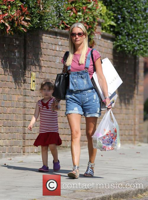 Denise Van Outen out with her daughter Betsy