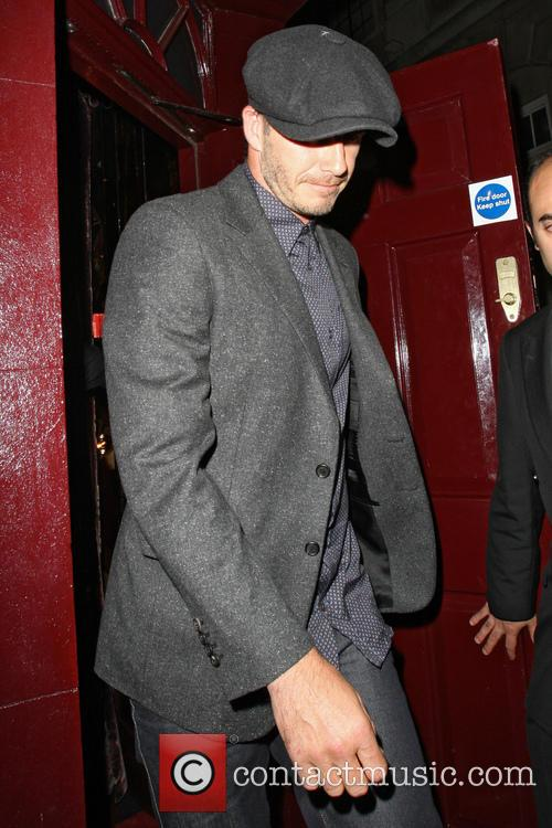 David Beckham Leaving Loulou's