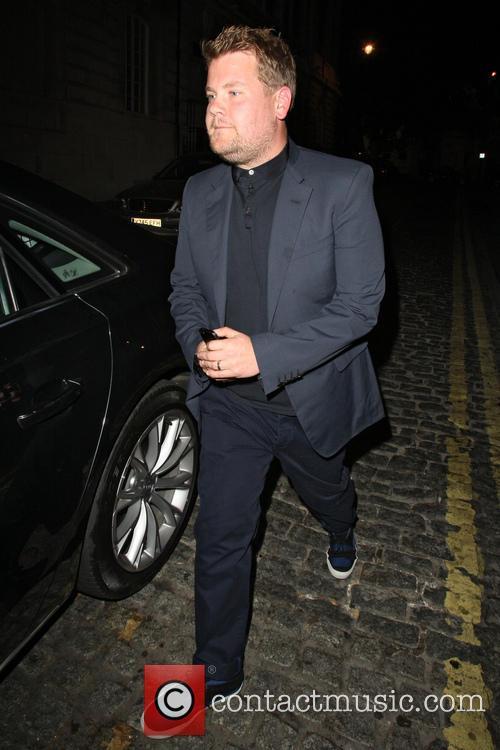 James Corden leaving Loulou's