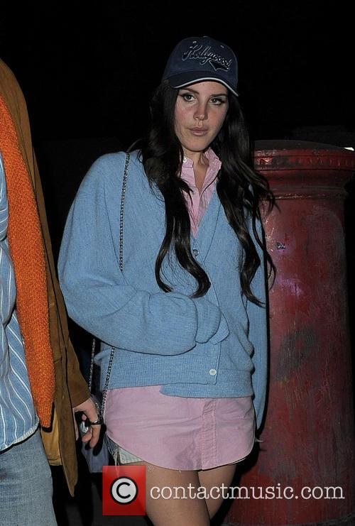 Lana Del Rey Leaving A Recording Studio