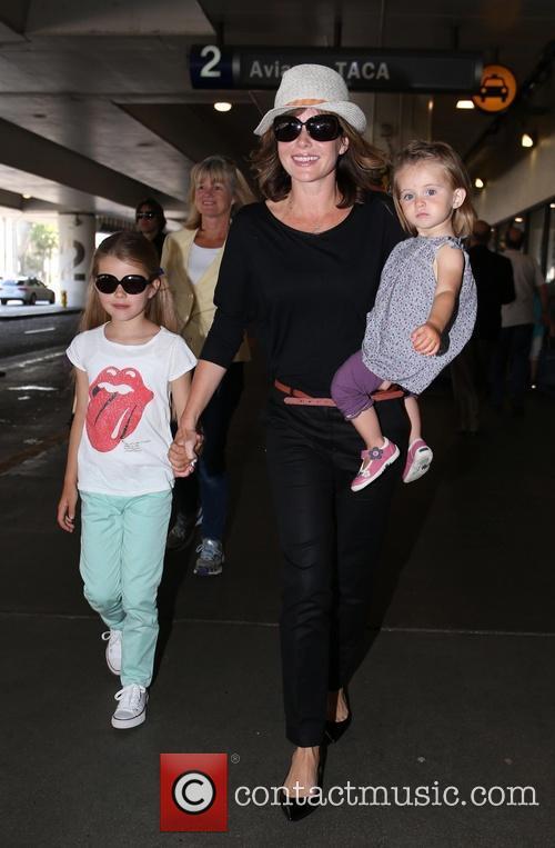 Amanda Holden at LAX airport