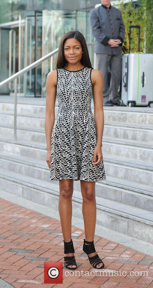 Naomie Harris arrives at her hotel