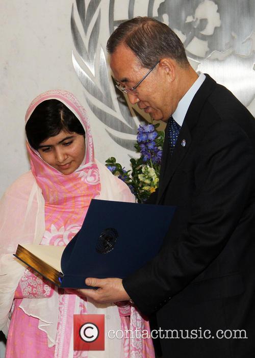 Malala Yousafzai and Ban Ki Moon 7