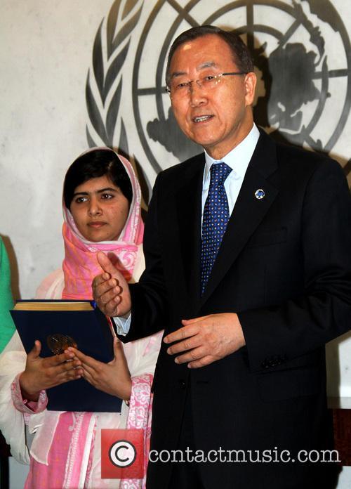 Malala Yousafzai and Ban Ki Moon 8