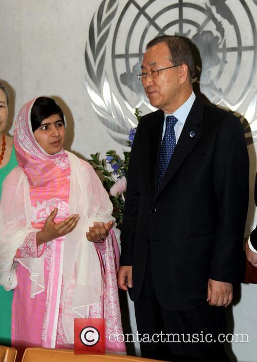 Malala Yousafzai and Ban Ki Moon 9