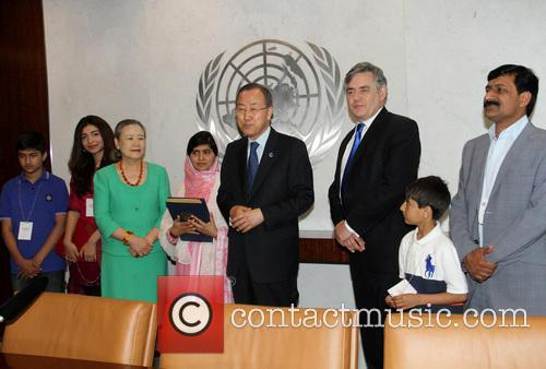 Gordon Brown, Malala Yousafzai, Ban Ki Moon and Mrs Ban Ki Moon 3