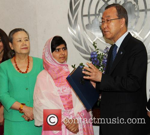 Mrs Ban Ki Moon, Malala Yousafzai and Ban Ki Moon 2
