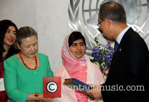 Mrs Ban Ki Moon, Malala Yousafzai and Ban Ki Moon 3