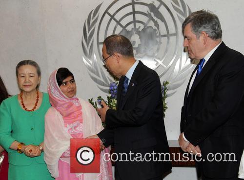 Mrs Ban Ki Moon, Malala Yousafzai and Ban Ki Moon 9