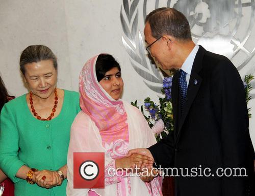 Mrs Ban Ki Moon, Malala Yousafzai and Ban Ki Moon 11