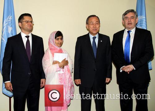 Vuk Jeremic, Malala Yousafzai, Ban Ki moon and Gordon Brown 2