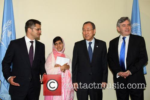 Vuk Jeremic, Malala Yousafzai, Ban Ki Moon and Gordon Brown 1