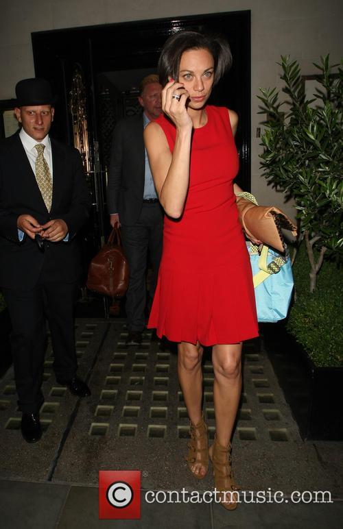 Boris Becker and wife Lilly leaving Scott's restaurant