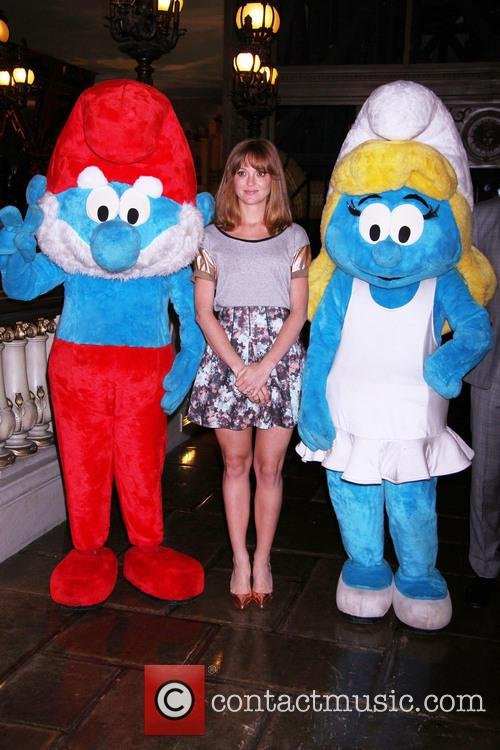 Jayma Mays and Smurfs 2