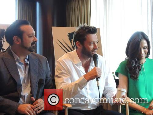 James Mangold, Hugh Jackman and Famke Janssen 3